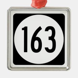 Iowa State Route 163 Metal Ornament