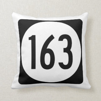 Iowa State Route 163 Throw Pillow