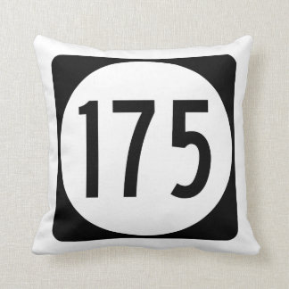Iowa State Route 175 Throw Pillow
