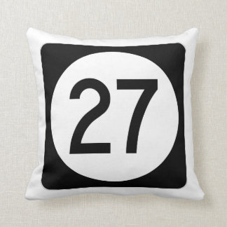 Iowa State Route 27 Throw Pillow