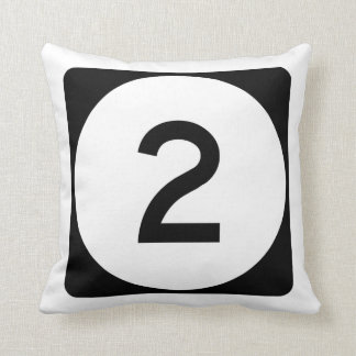 Iowa State Route 2 Throw Pillow