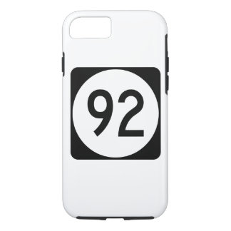 Iowa State Route 92 iPhone 8/7 Case