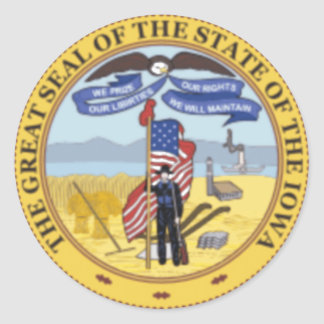 Iowa State Seal Classic Round Sticker