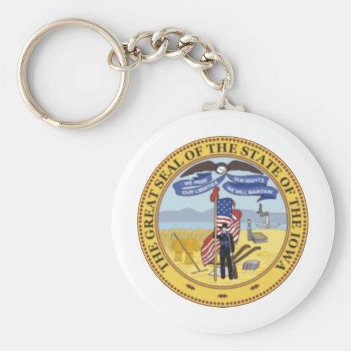 Iowa State Seal Keychains