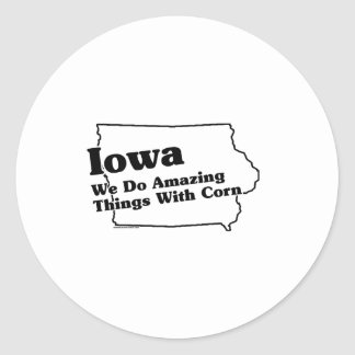 Iowa State Slogan Classic Round Sticker