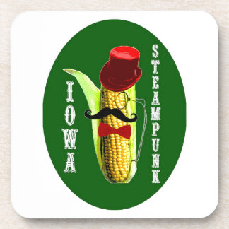 iowa steampunk corncob mascot coaster