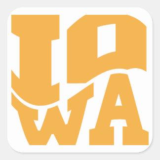 Iowa Square Stickers