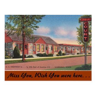 Iowa, Sudbury Court, Marengo Postcard