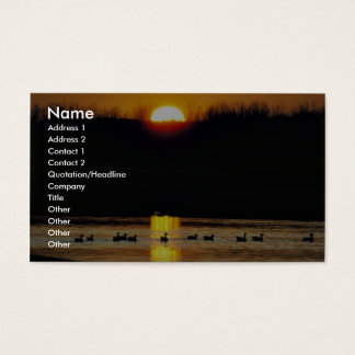 Iowa sunrise business card