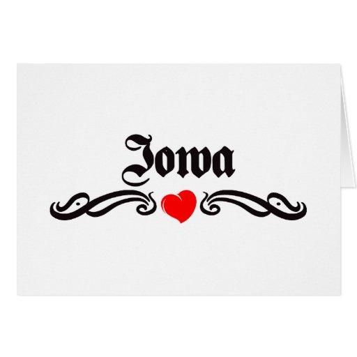 Iowa Tattoo Greeting Cards