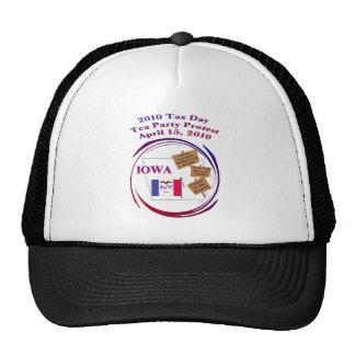 Iowa Tax Day Tea Party Protest Baseball Cap Mesh Hat