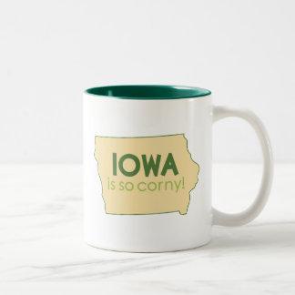 Iowa Taza De Dos Tonos