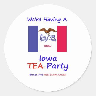 Iowa TEA Party - We're Taxed Enough Already! Classic Round Sticker