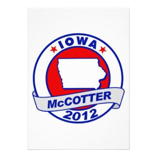 Iowa Thad McCotter Invitation