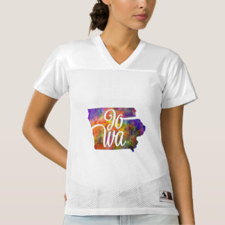 Iowa U.S. State in watercolor text cut out