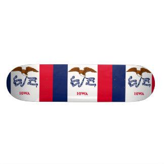 Iowa, United States flag Skateboard