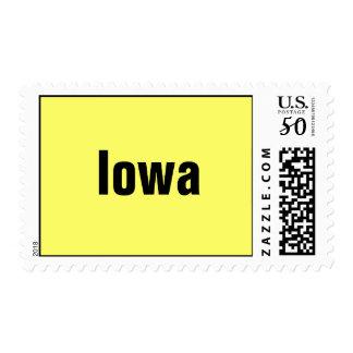 Iowa UNITED STATES POSTAGE STAMP BY WASTELANDMUSIC