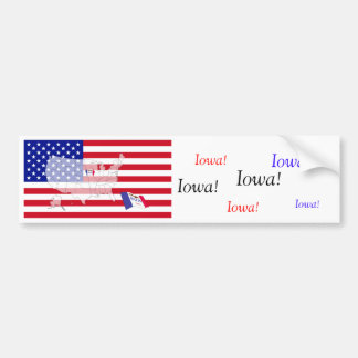 Iowa, USA Car Bumper Sticker