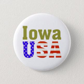 Iowa USA! Pinback Button
