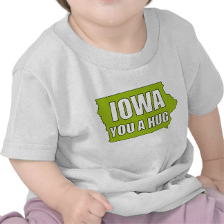IOWA usted un abrazo Camisetas