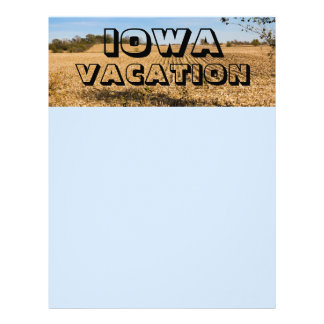 Iowa Vacation Scrapbooking Paper Page Letterhead