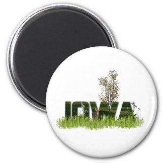 Iowa Wildlife 2 Inch Round Magnet