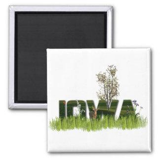 Iowa Wildlife 2 Inch Square Magnet