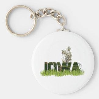 Iowa Wildlife Basic Round Button Keychain