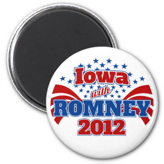 Iowa with Romney 2012 Magnet
