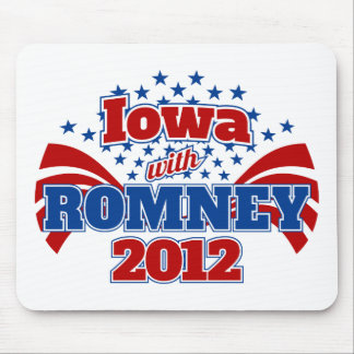 Iowa with Romney 2012 Mouse Pad