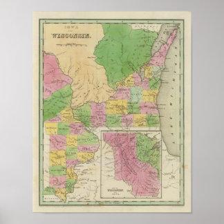 Iowa y Wisconsin Póster