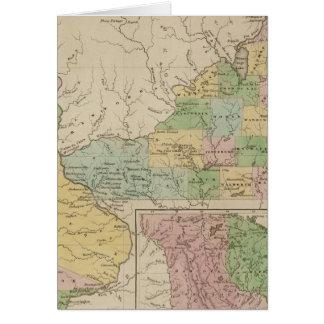 Iowa y Wisconsin Tarjeta
