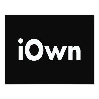iOwn Invitación 10,8 X 13,9 Cm