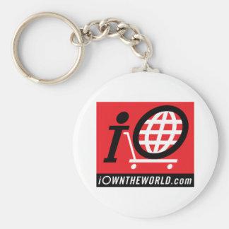 iOwnTheWorld.com Logo Basic Round Button Keychain