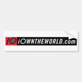 iOwnTheWorldBannerLogo Car Bumper Sticker