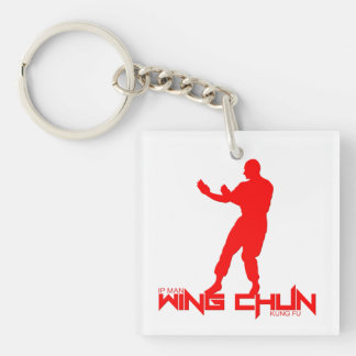 "Ip Man - Wing Chun ""Kung Fu"" Single-Sided Square Acrylic Keychain"