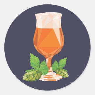 IPA (cerveza clara de la India) Pegatina Redonda