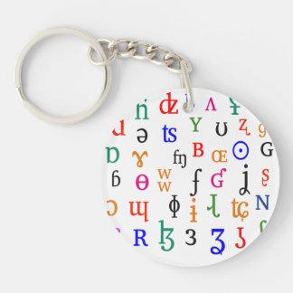 IPA characters Keychain
