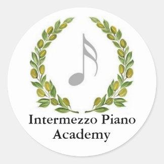 IPAcrestalt, Intermezzo Piano, Academy Classic Round Sticker