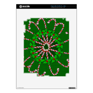 iPad2 Skins with Candy Cane Design Decal For iPad 2
