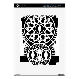 Ipad3 Skin with Polynesian tribal sun tattoo iPad 3 Skins