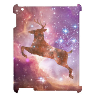 iPad 2/3/4 Case Cosmic Deer Leaping into Space iPad Covers