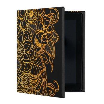 iPad 2/3/4 Case Floral Doodle Gold G523
