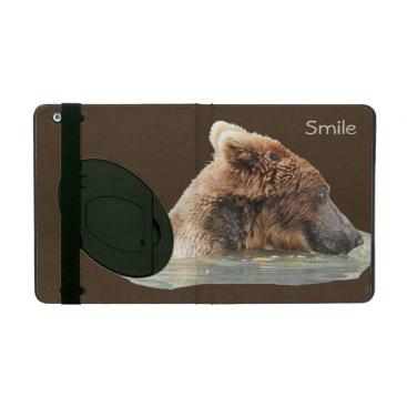 iPad 2/3/4 Case with Kickstand w/ grizzly bear