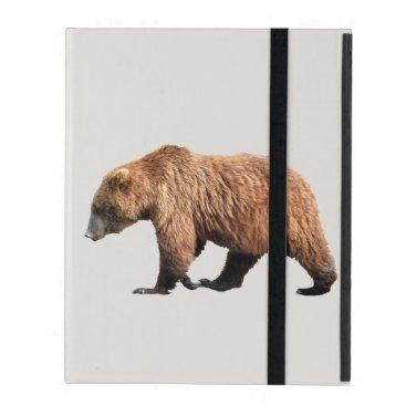 """iPad 2/3/4 Case"" with No Kickstand,  2 grizzlies iPad Case"