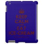 [Crown] keep calm and eat ice-cream  iPad 2/3/4 Cases