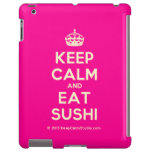 [Crown] keep calm and eat sushi  iPad 2/3/4 Cases