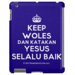 [Crown] keep woles dan katakan yesus selalu baik  iPad 2/3/4 Cases