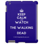 [Crown] keep calm and watch the walking dead  iPad 2 3 4 Cases