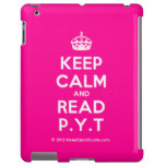[Crown] keep calm and read p.y.t  iPad 2/3/4 Cases